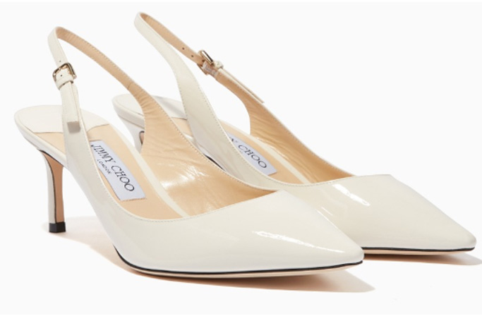 Jimmy Choo - Chalk-White Patent Erin 60 Pumps